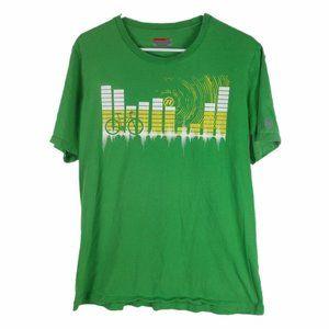 Novara Cycling Graphic T-Shirt Green Abstract City